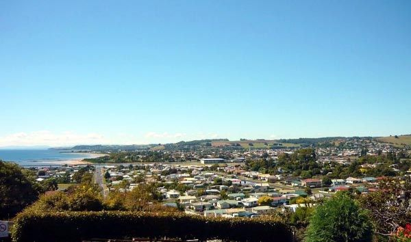 A view over the township of Ulverstone.  Article & photo by Michelle Kneipp Pegler.