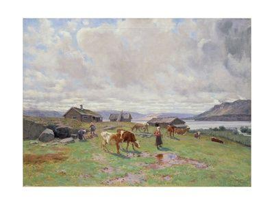 Morning Atmosphere at Holmvassbu by Christian Eriksen Skredsvig