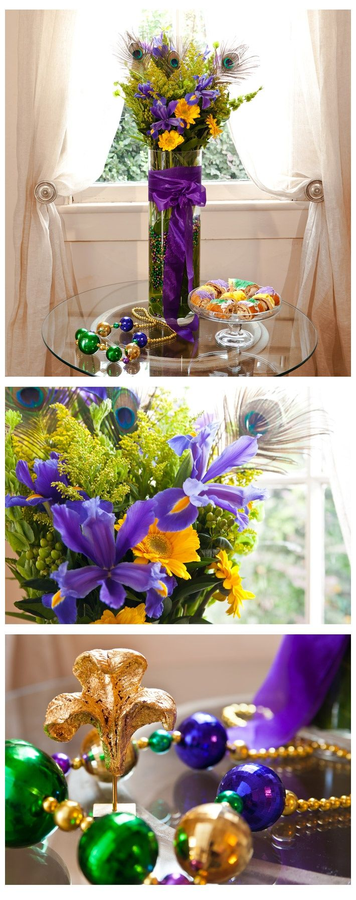 Best mardi gras arrangements images on pinterest
