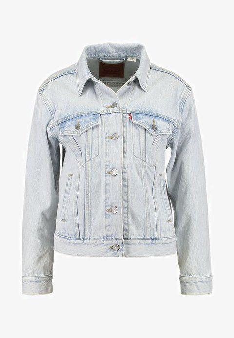 69e8a56f Levi's® EX BOYFRIEND TRUCKER - Denim jacket - static sound - Zalando.co.uk