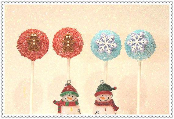 Christmas+Cake+Pops+by+myangelpops+on+Etsy,+$30.00