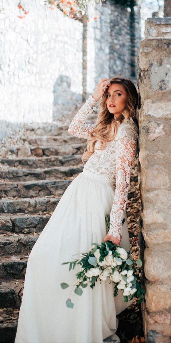 Bridal Inspiration: 27 Rustic Wedding Dresses ❤ rustic wedding dresses straight long lace long sleeves jnoelle design ❤ See more: http://www.weddingforward.com/rustic-wedding-dresses/ #weddingforward #wedding #bride