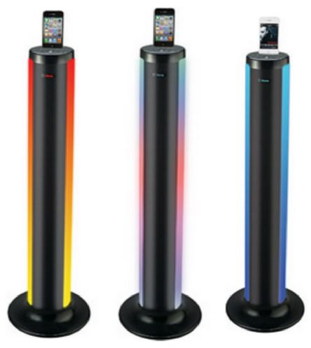 iHome Docking Station | LED Color Changing Tower with Bluetooth Function $79 down from $175 #hotdeals #ihome