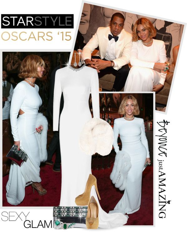 """""""Beautiful Beyonce.. The Oscars '15 Vanity Fair Party"""" by shortyluv718 ❤ liked on Polyvore"""