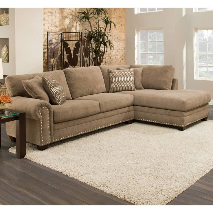Great PANTONEu0027s Spring 2017 Color Hazelnut. Albany Lazaro Brown Chenille  Sectional With Nailhead Trim | Weekends