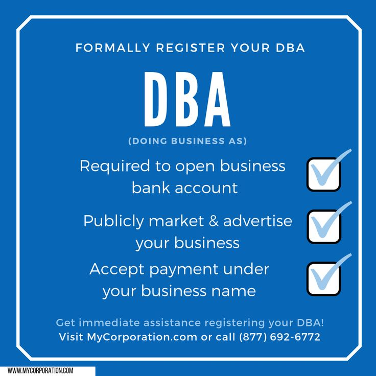File a DBA Business bank account, Opening a business
