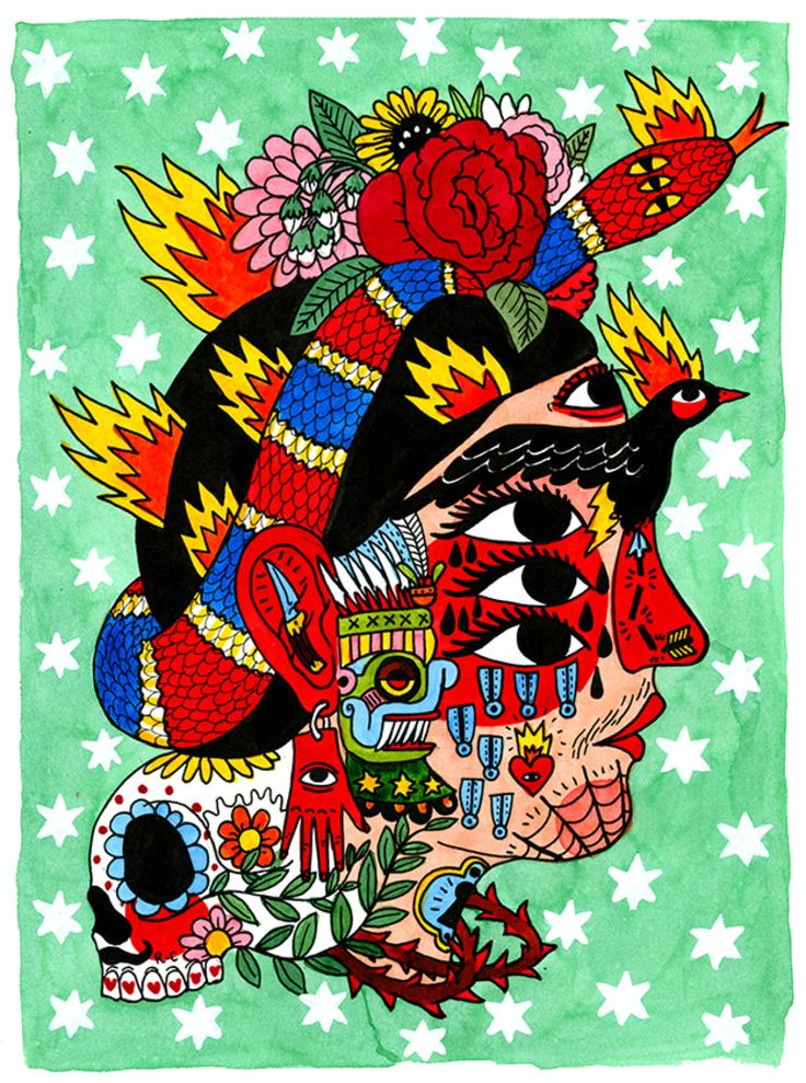 Frida – Ricardo Cavolo   ricardocavolo.com (744×1000)