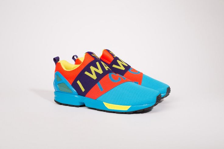 "adidas ZX Flux Slip-On ""I Want/I Can"" Solar Blue & Red"