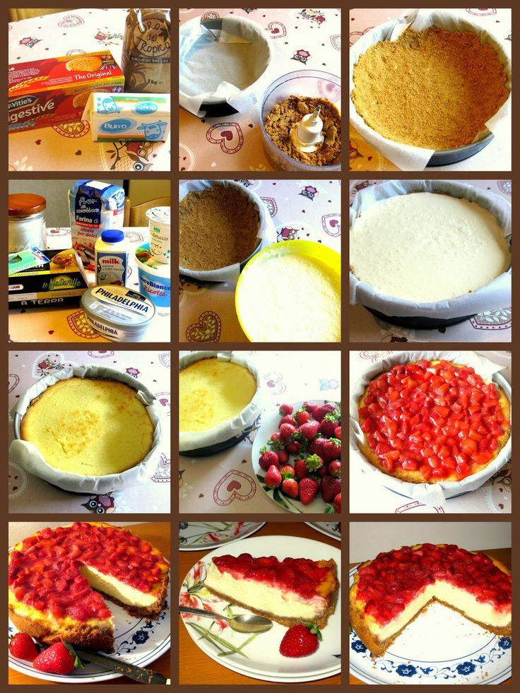 Cheesecake con fragole e philadelphia