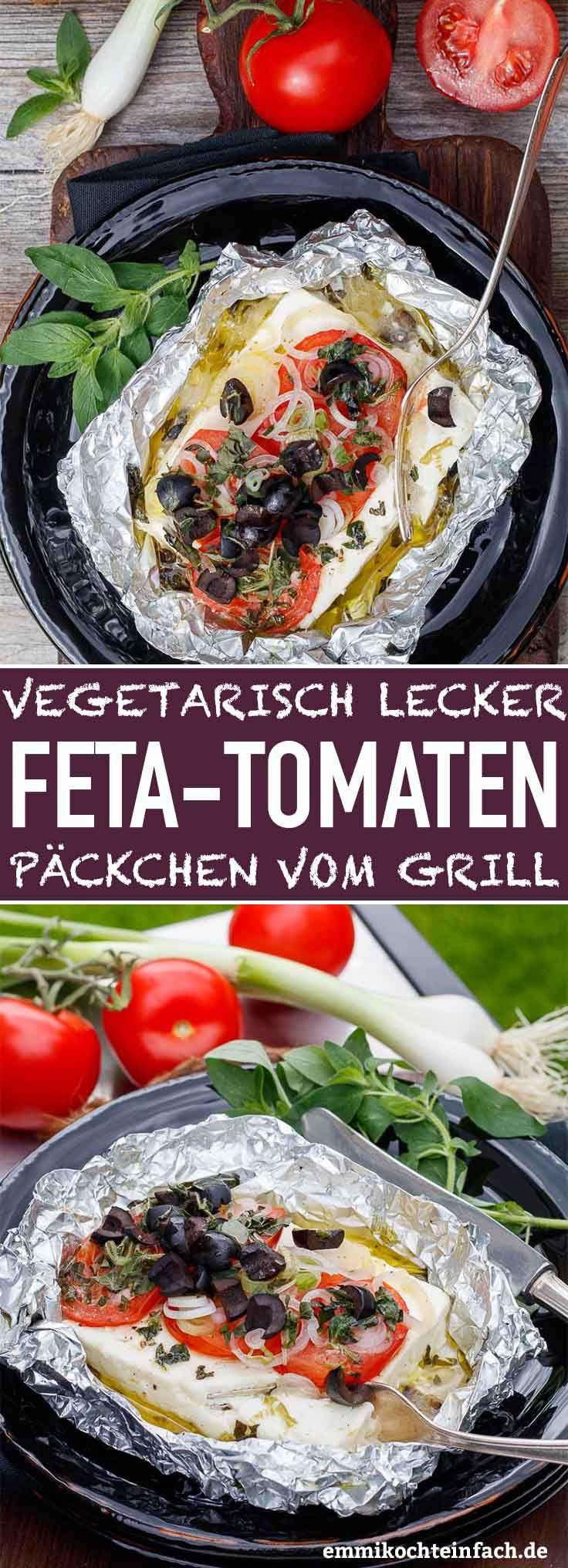 Feta and tomato packets from the grill   – emmikochteinfach – Der Food-Blog mit einfachen Rezepten, die gelingen