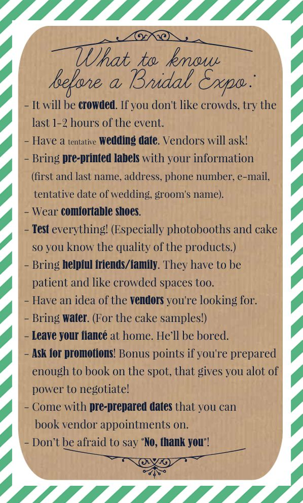 Good tips for brides!