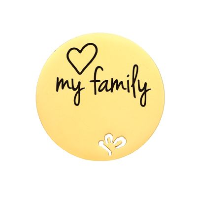 'Love my family' Statement Plate