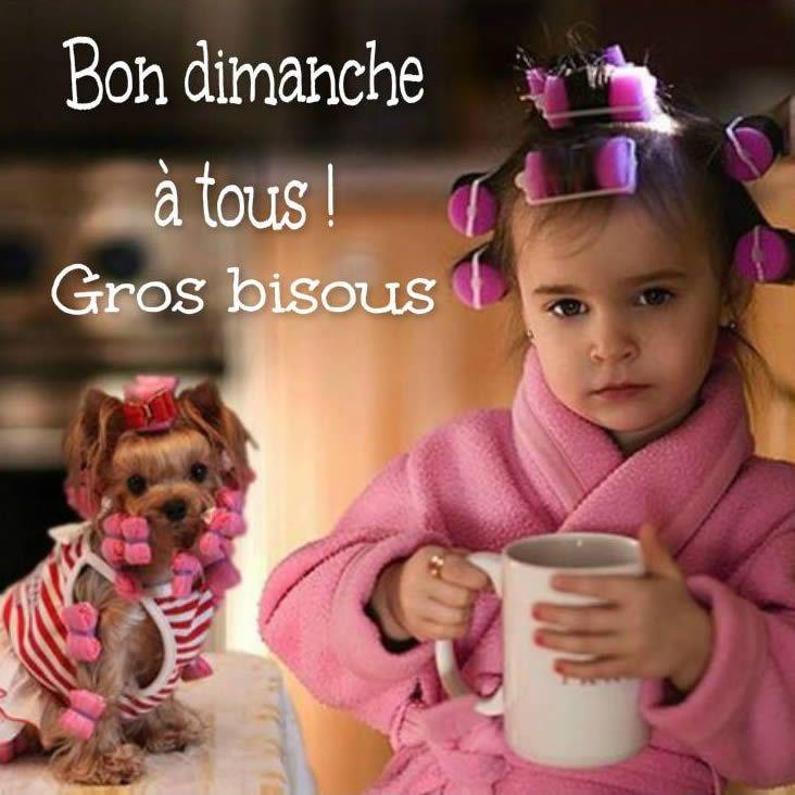 Bon dimanche à tous ! Gros bisous #dimanche petite fille drole chien bigoudi cafe