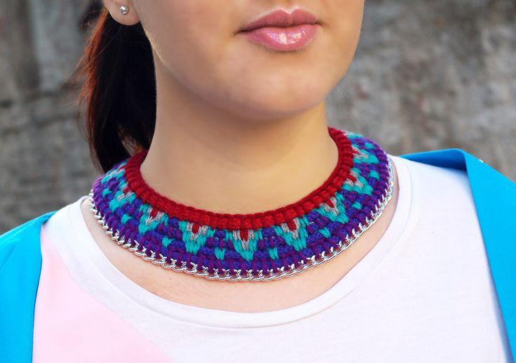Hippie Necklace / Tassel Necklace / Rose Necklace / Geometric Necklace / Statement Necklace / Boho Necklace / Indian Necklace by Karavanas on Etsy