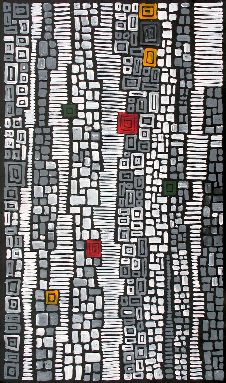 Aboriginal Artwork by Adam Reid Sold through Coolabah Art on eBay. Catalogue ID 09056