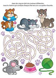 Jeu de labyrinthe en couleur pour enfants de 3 ans et plus