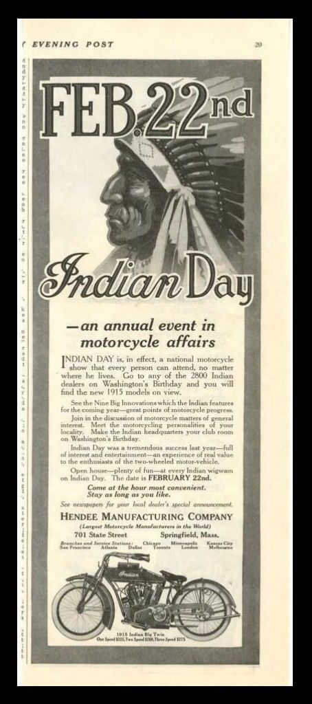 1915 Indian Day Promo!