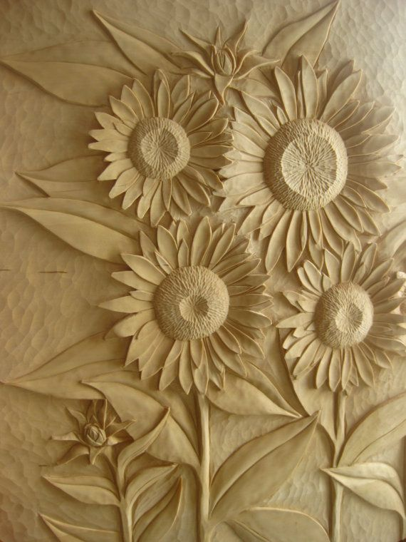 Wooden headboard hand carved relief carvings