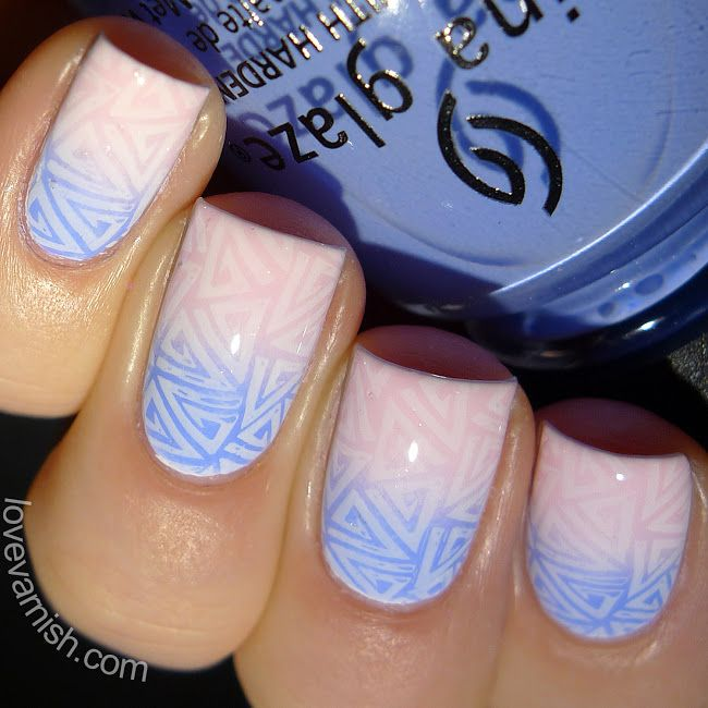 75    Pinned from www.lovevarnish.com Nail art // Paint All The Nails Presents Pantone Color of the Year