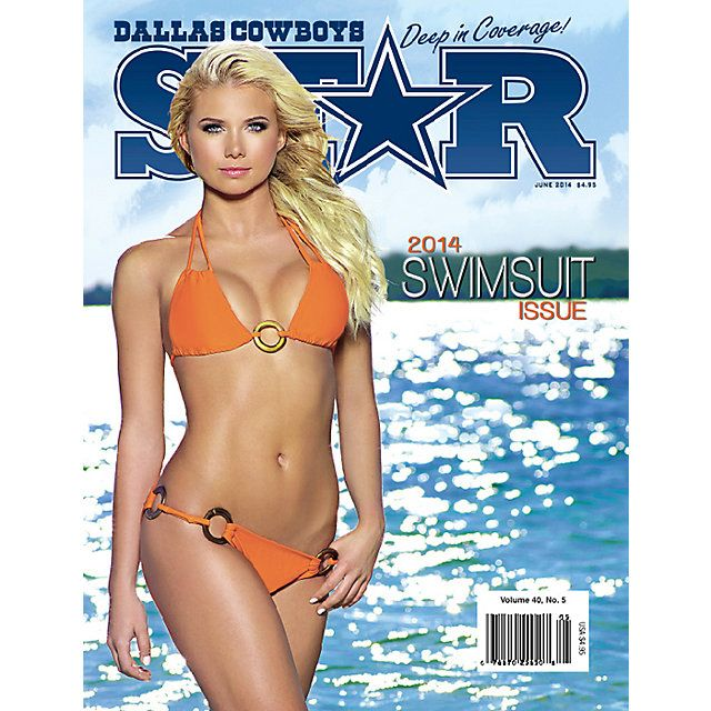 Get your NFL Dallas Cowboys Star Magazine 2014 Swimsuit Issue today at shop.dallascowboys.com