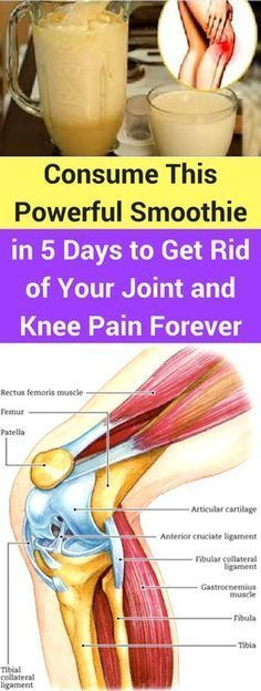 Consume This Powerful Smoothie in 5 Days to Get Rid of Your Joint and Knee Pain Forever