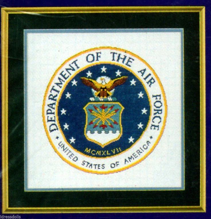 Usaf Counted Cross Stitch Military Emblems Kit 546 Air