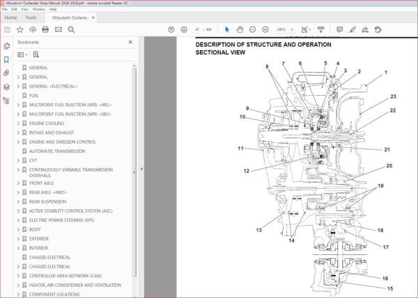 Mitsubishi Outlander Shop Manual 2016 2018 Pdf Download In 2020 Mitsubishi Outlander Mitsubishi Pdf Download