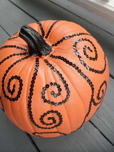 Sequin pumpkin! Love this!!!
