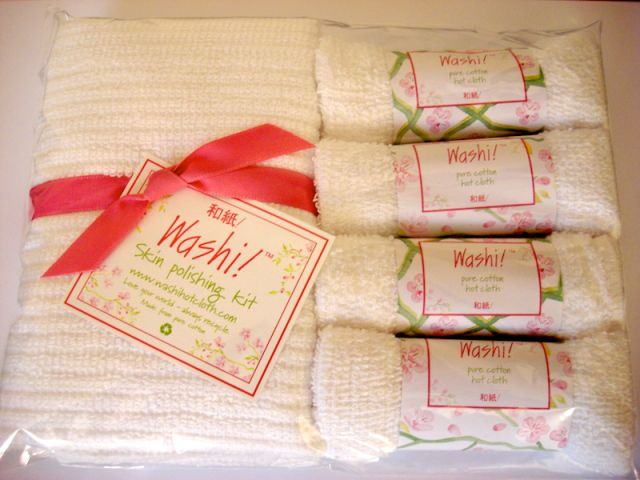 Washi hot cloths