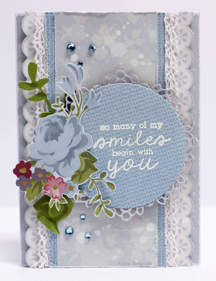 'So Many Smiles Begin With You' Card By Anita Bownds DT Member Kaisercraft 'Secret Garden Collection ~ Wendy Schultz ~ Cards 1.
