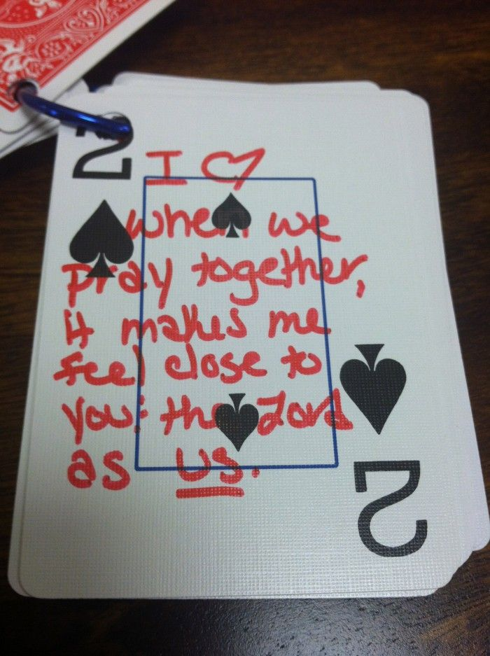52 Ways I Love You Card DIY craft. For V-day, his birthday, or for no special reason at all. Easy to do!