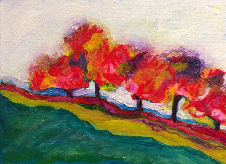 FINEARTSEEN - View Endless Autumn original art by Jayati Gupta. A beautiful original acrylic landscape painting to brighten up your home or interior decor. Freshen up your walls for Spring and view the beautiful authentic collection of artwork available on FineArtSeen - The curated online destination to discover and buy original art from the world's most talented artists. Enjoy Free Delivery with every order. >
