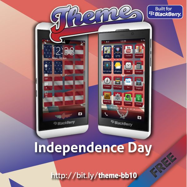 Celebrate America's Independence Day with the Independence Day Theme for your BlackBerry 10 device - http://blackberryempire.com/celebrate-americas-independence-day-independence-day-theme-blackberry-10-device/ #BlackBerry #Smartphones #Tech