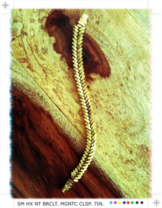 Brass Fishbone Small Hex Nut Bracelet by sarajainephipps on Etsy, $35.00