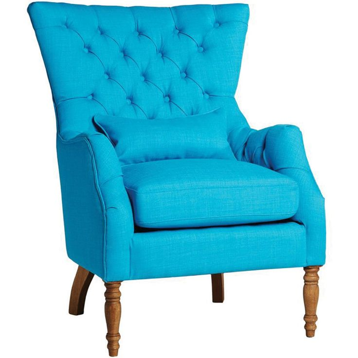 Lotus Buttonback Armchair Aqua, Sasson