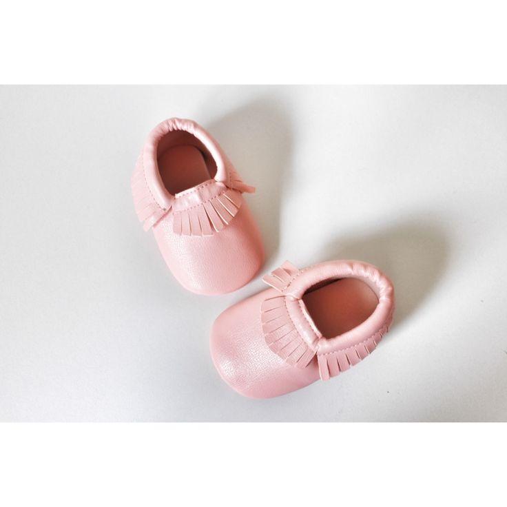 Pink Blush fringe Moccasins baby infant shoes💛 $19.99