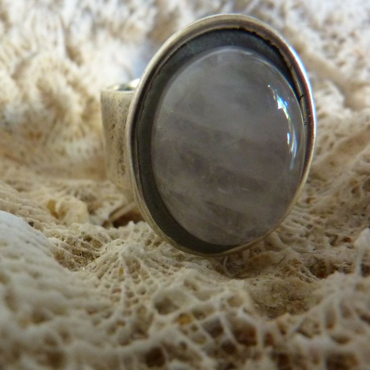 Rose Quartz Ring - handmade crystal energy gemstone jewellery Earth Jewel Creations Australia