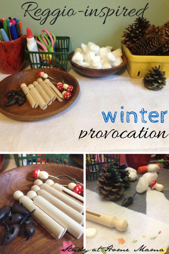 Reggio Inspired Winter Provocation Reggio Christmas Early