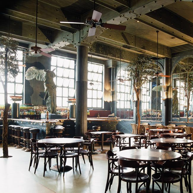 LISBONNE: Alcantara café, Lisbon, Portugal.  Timeless restaurant because of the size of its industrial architecture.