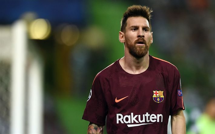 Download wallpapers 4k, Messi, 2017, football stars, Barca, Lionel Messi, FC Barcelona, footballers, FCB, soccer, Leo Messi