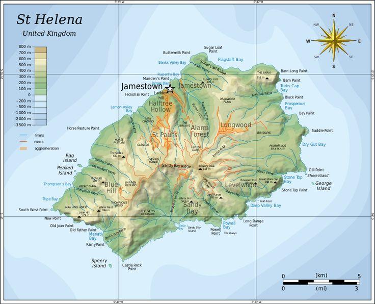 Best Saint Helena Images On Pinterest Saint Helena - Tristan da cunha map