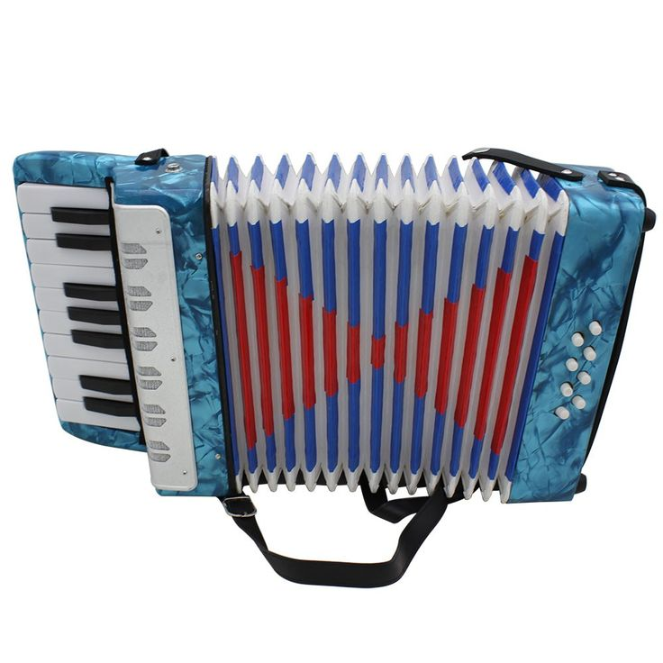 Mini Small 17-Key 8 Bass Accordion Educational Musical Sales Online blau - Tomtop.com