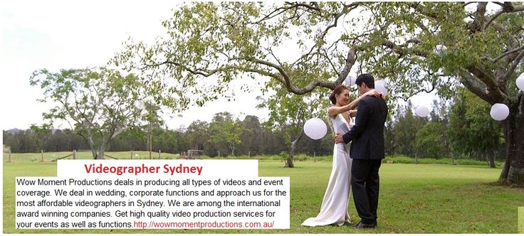 Now save huge amounts over videography. Wow Moment Productions deliver numerous engaging videos at the same time. Approach us for the best videographer Sydney. Call 0424532126.