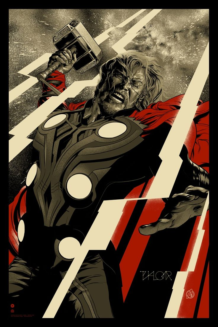 The Avengers: Thor / poster by Martin Ansin