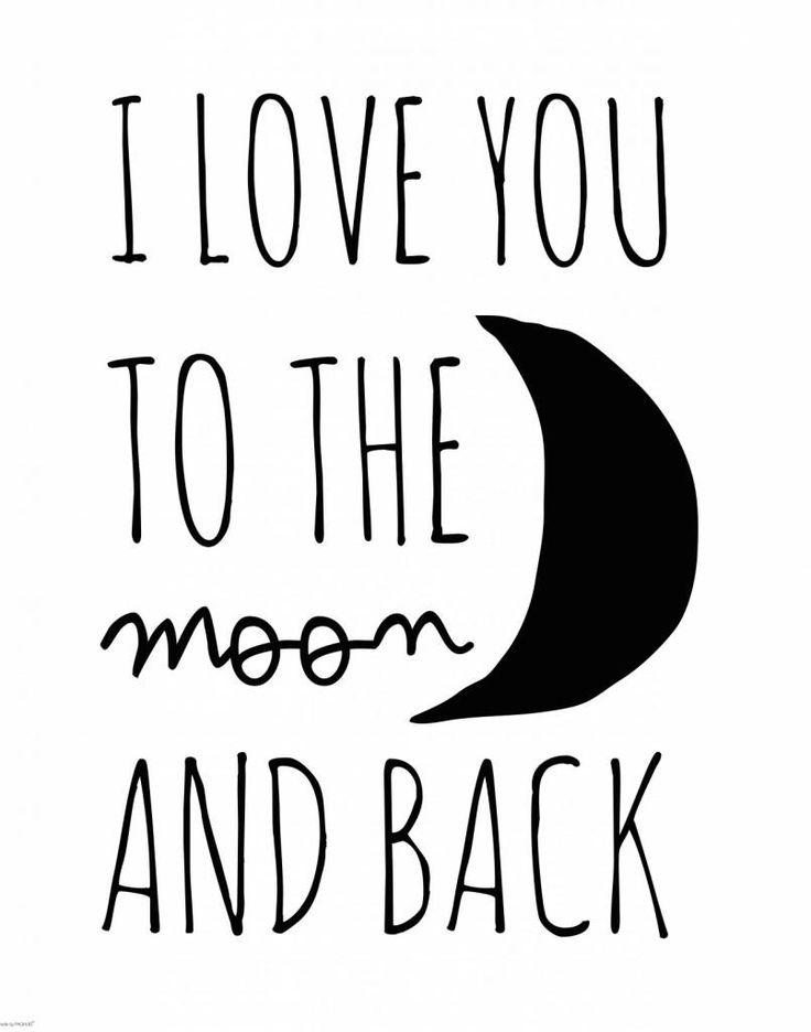www.mevrouwaardbei.nl PAQHUIS poster I love you to the moon 40x50cm