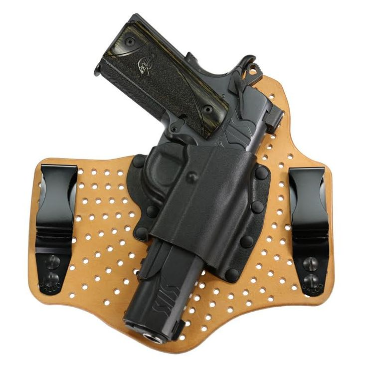 A cooler alternative to Galco's best-selling KingTuk™ IWB, the patented KingTuk Air™ provides a level of comfort previously unknown with broad-plated IWB holsters. The ventilated steerhide backing plate combined with a rigid Kydex® holster pocket for provides extreme comfort – especially in hot or humid climates – along with fast draw and easy holstering.