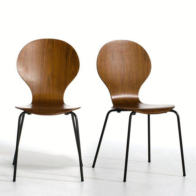 Les chaises empilables Watford. Légères et design, les chaises Watford sont parfaites pour moderniser votre intérieur et se rangent facilement pour jouer les sièges d'appoint. Caractéristiques des chaises Watford : Coque en multiplis replaqué noyer, finition vernis nitrocellulosique. Piètement en tube d'acier laqué époxy noir. Retrouvez d'autres modèles de la collection Watford sur laredoute.frDimensions des chaises Watford : TotalesLargeur : 55 cmHauteur : 86 cmProfondeur : 46 cmAss...