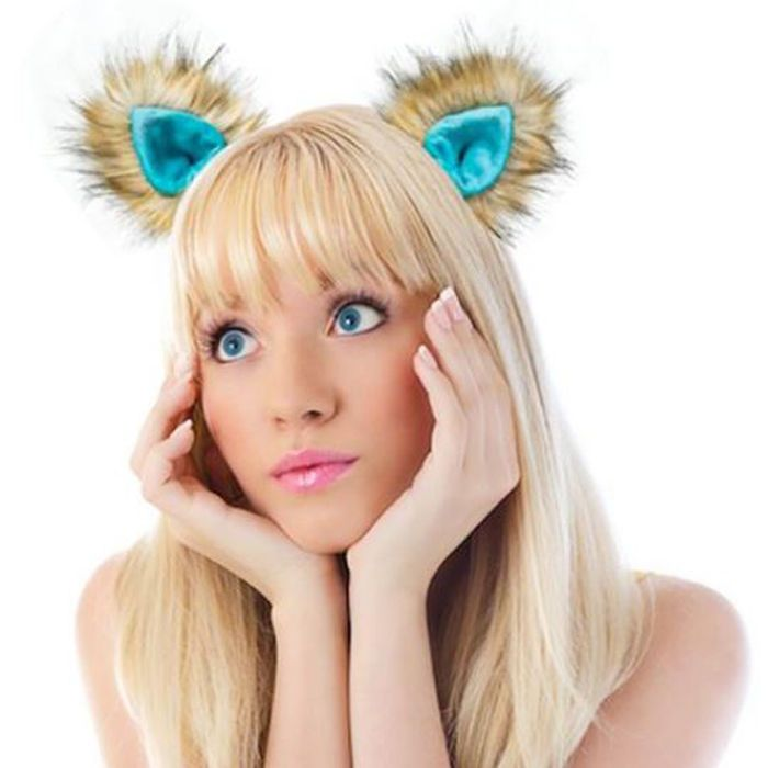 24.99$  Watch now - http://viejb.justgood.pw/vig/item.php?t=bjlll6c58806 - Kritter Klips Handcrafted Realistic Clip-On Animal Ears- Teal Fox Ears