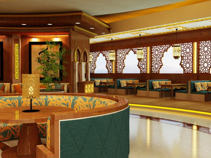Modern islamic restaurant proposal tenda arabe em