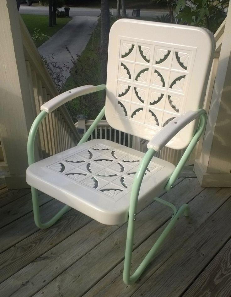 173 best vintage metal porch chairs images on pinterest porch
